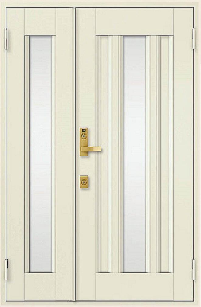 玄関ドア クリエラR 親子ドア 16型 ランマなし 半外付型 鎌付箱錠仕様 幅:1240mm × 高さ:1917mm リクシル LIXIL