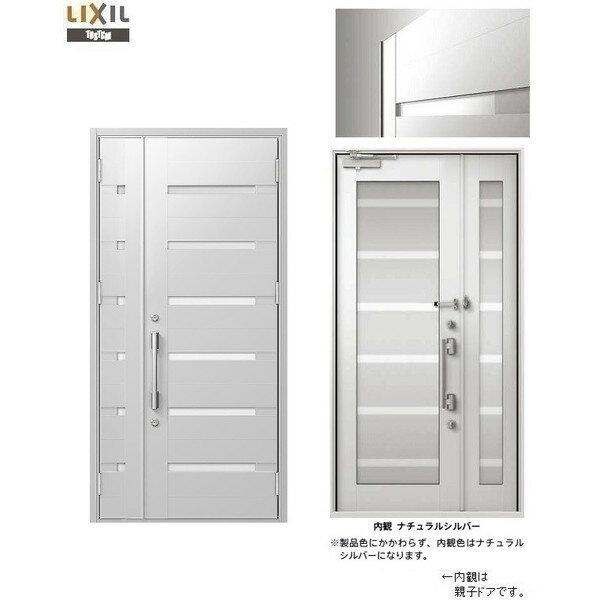 玄関 ドア リクシル プレナスX M41型デザイン 親子入隅ドア 幅1138mm×高さ2330mm