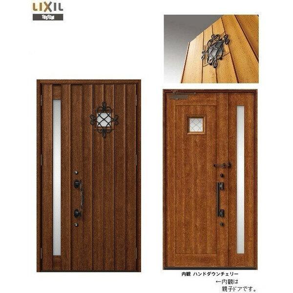 玄関 ドア リクシル プレナスX T12型デザイン 親子ドア 幅1240mm×高さ2330mm