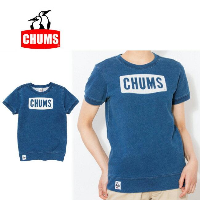 チャムス chums Tシャツ S/S Logo Crew Top Indigo Women's 半袖ロゴクルートップインディゴ CH10-1066 レディース 【服】【t-cnr】