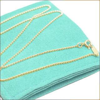 TIFFANY&CO.(ティファニー)K18イエローゴールド ビーズチェーン 小51cm【新品】GOLD267-000065-208
