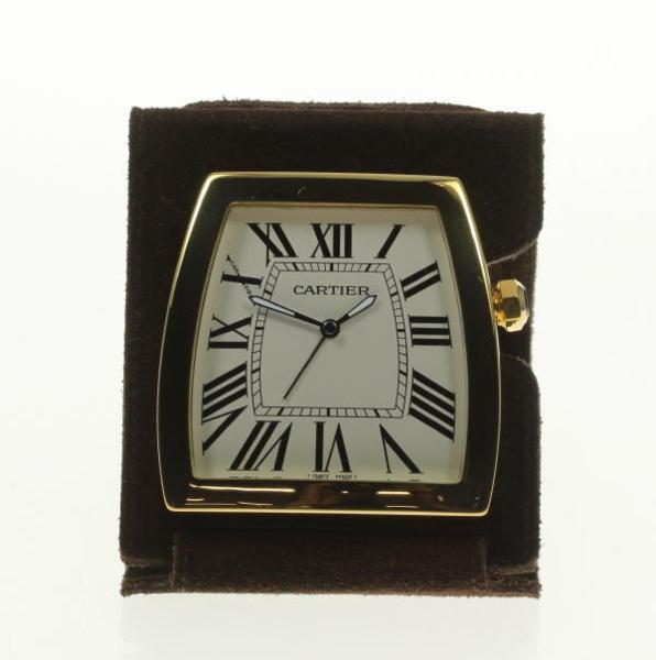 美品 箱保付【Cartier】カルティエ ラドーニャ Ref.W0100064 クォーツ 置時計【中古】