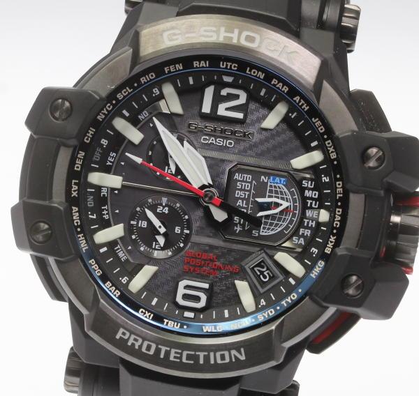美品【CASIO】 カシオ G-SHOCK スカイコックピット GPW-1000-1AJF ソーラー メンズ腕時計 ◆【中古】