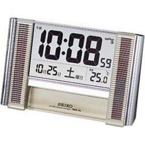 日替わりセール SEIKO CLOCK (セイコークロック) 置き時計 ソーラークロック 電波時計 ツイン・パ デジタル SQ638S