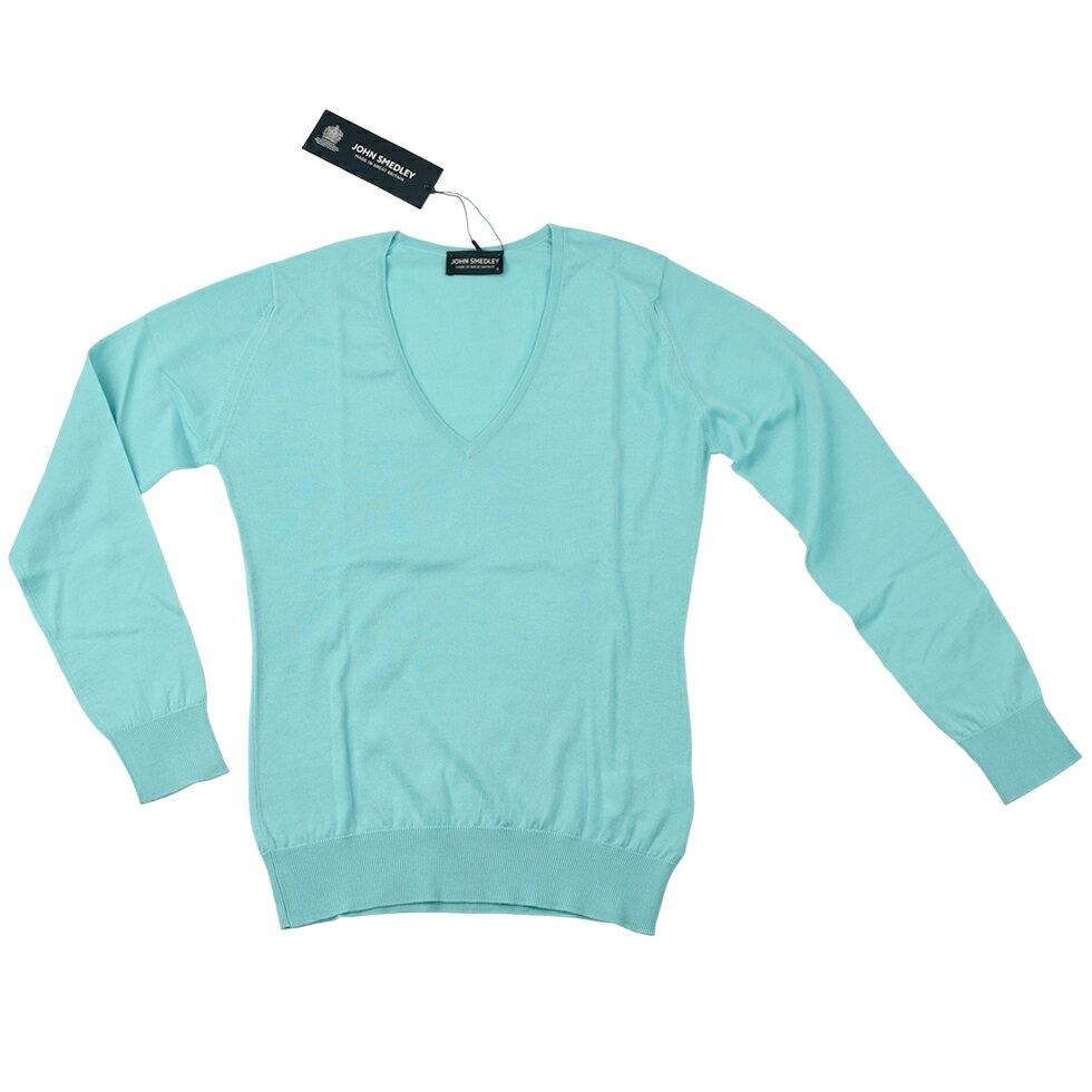 JOHN SMEDLEY ジョンスメドレー セーター 9140PUTNEY CLEAR WATER AQUA BLUE レディース/トップス/TOPS/母の日/ギフト 【送料無料】【SSJS】