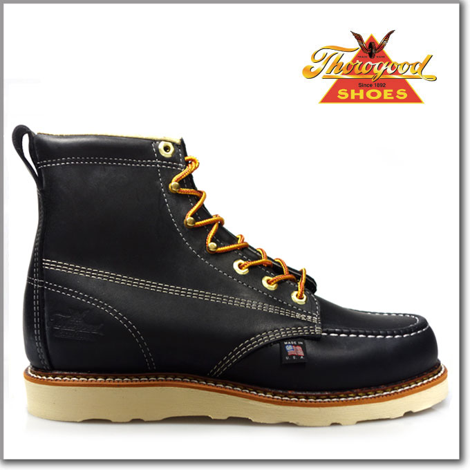 ソログッド THOROGOOD 6 MOC TOE black814-6201 HANTING BOOTSソログッド ハンティング ブーツオイルド レザー ブラック 黒 あす楽