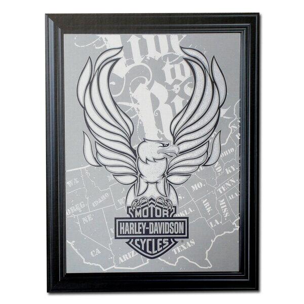 Harley-Davidson ハーレーダビッドソン L/R イーグルミラー HDL-15228 /鏡、ルームミラー、壁面インテリア/アメリカン雑貨/