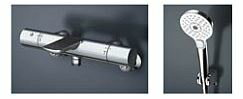 TOTO 浴室用水栓【TBV01S01J】 壁付サーモスタット コンフォートウエーブ 3モード