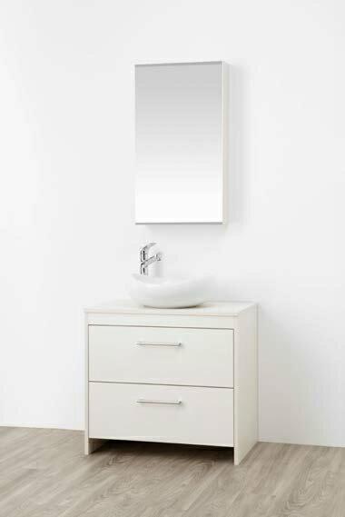 ###三栄水栓【WF015S2-750-IV-T1】(木目ホワイト) 洗面化粧台 (鏡付) WAILEA