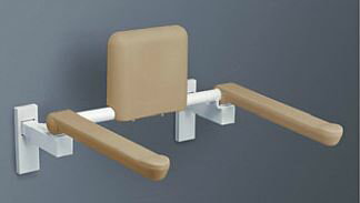 TOTO トイレ用手すり (はねあげタイプ)【EWCS770R】壁固定タイプ 背もたれ付 (旧品番 EWCS770)