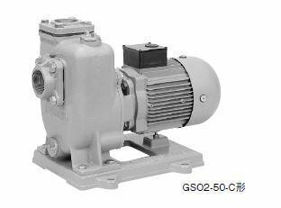 川本 自吸うず巻ポンプ 2極 60Hz【GSO2-506CE1.5】三相200V 1.5kW GSO2-C形