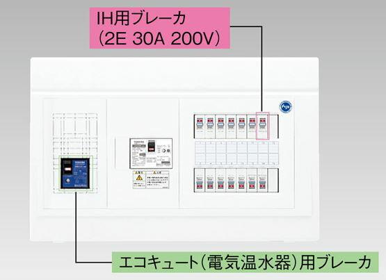 『カード対応OK!』●β東芝 電設資材【TFNPB3E7-182TL2B】扉なし・機能付 エコキュート(電気温水器)+IH用(主幹75A)