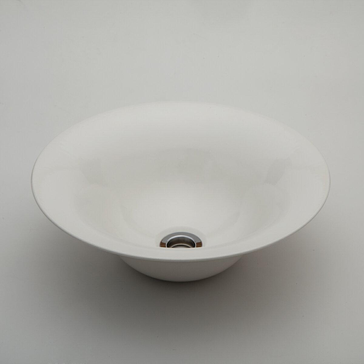 『カード対応OK!』###リラインス 置き型手洗器【LSM4-TU】(艶白) (手洗器のみ) モノクロームシリーズ φ326 受注約2週間