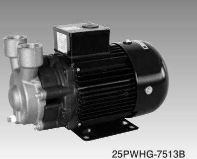 三相電機  砲金製カスケードポンプ【25PWHG-7513B】60Hz メカニカルシールタイプ 三相200V 725W