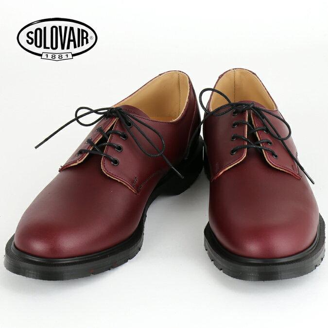 OFFセール SOLOVAIR ソロヴェアー 革靴 ギブソン レザーシューズ ダムソン プレーントウ プレイン ダービー メンズ レディース ギフト 紳士 男性 ビジネス靴 イギリス モッズ