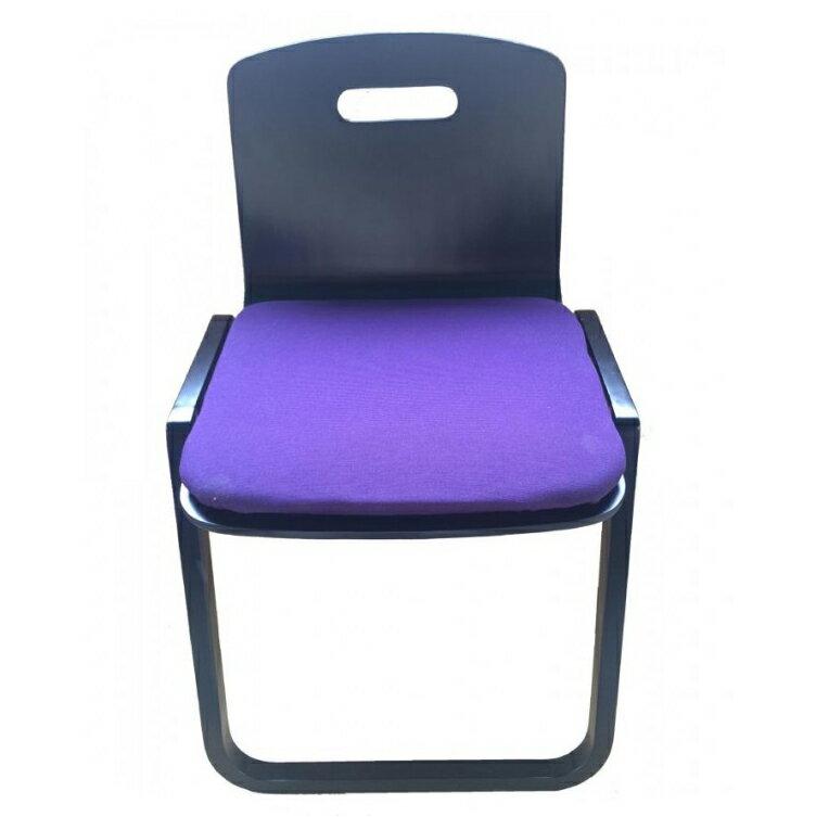 【代引不可】鈴木木工所 背もたれつき本堂用椅子曲足 黒「他の商品と同梱不可」