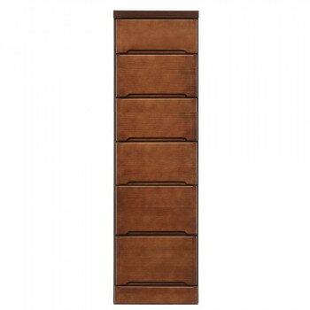 【代引不可】クライン サイズが豊富なすきま収納チェスト ブラウン色 6段 幅35cm「他の商品と同梱不可」