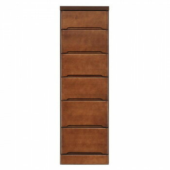 【代引不可】クライン サイズが豊富なすきま収納チェスト ブラウン色 6段 幅37.5cm「他の商品と同梱不可」