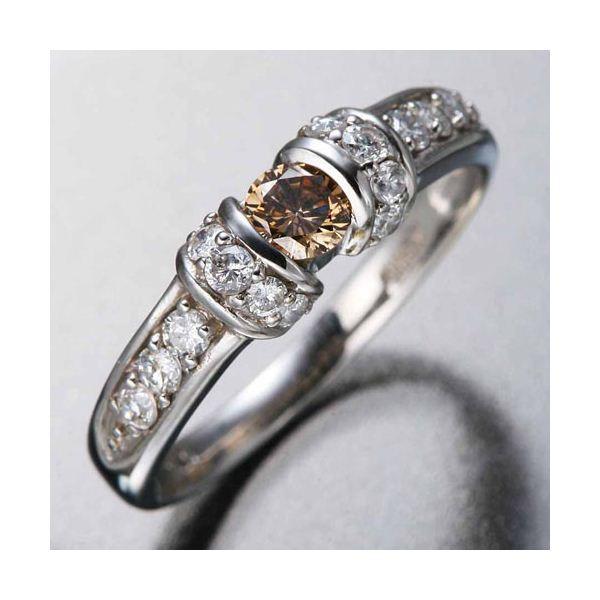 ◇K18WGダイヤリング 指輪 ツーカラーリング 17号※他の商品と同梱不可