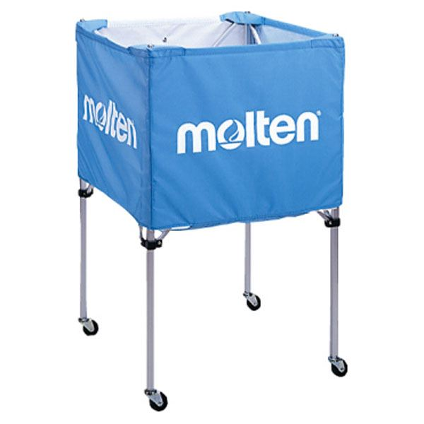 ◇モルテン(Molten) 折りたたみ式ボールカゴ(中・背高 屋内用) サックス BK20HSK※他の商品と同梱不可