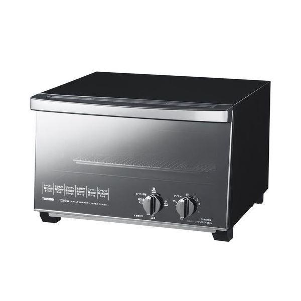 ◇ツインバード ミラーガラスオーブントースター ブラック TS-D047B※他の商品と同梱不可