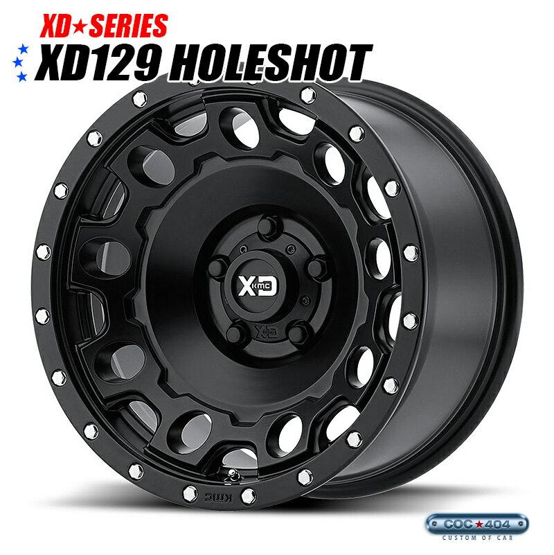 KMC XD129 Holeshot (ホールショット) サテンブラック 18インチ 1本