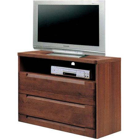 ハイタイプテレビ台 スカーレット 幅80cm 高さ75cm ダークブラウン