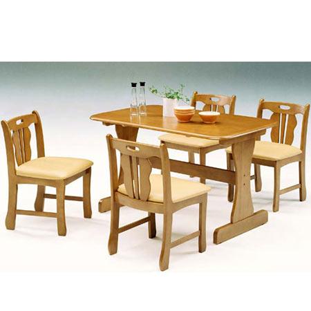 ダイニング5点セット メアリー 幅120cm テーブル+チェア×4脚 ミドルブラウン