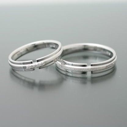 ペアリング ダイヤリング 2本セット K10 ホワイトゴールド 天然 ダイヤモンド マリッジリング 結婚指輪 日本製【NEWショップ】【送料無料】 【ペアリング】【ホワイトゴールド】