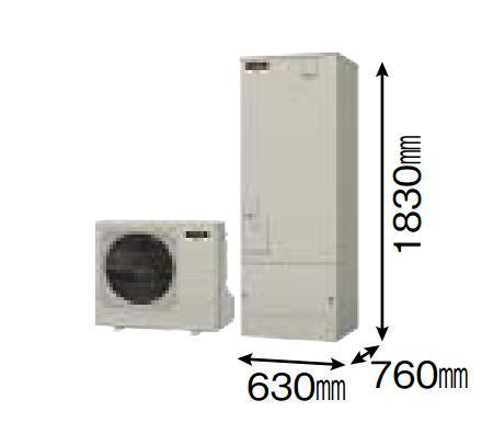 【SRT-W372】 三菱エコキュート 角型370L (主に3~4人用) Aシリーズ(フルオートW追いだき) 貯湯ユニット SRT-W372 ヒートポンプユニット SRT-MU452-A