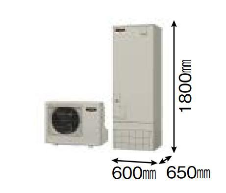 【SRT-W302D】 三菱エコキュート 角型300L (主に2~4人用) Aシリーズ(フルオートW追いだき) 貯湯ユニット SRT-W302D ヒートポンプユニット SRT-MU452-A