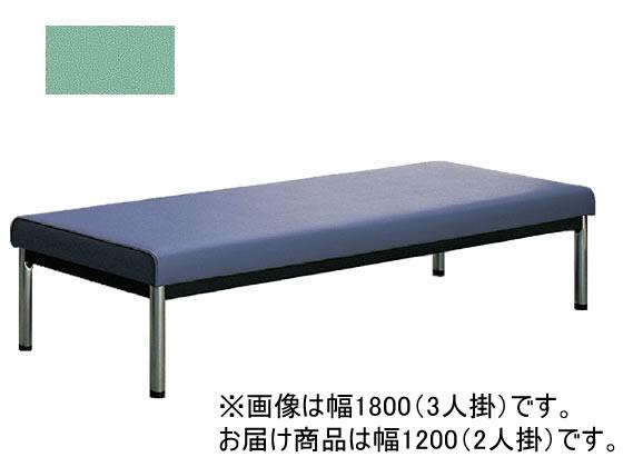 コクヨ/150アームレスチェアー 丸メッキ脚 背なし W1200 ミント