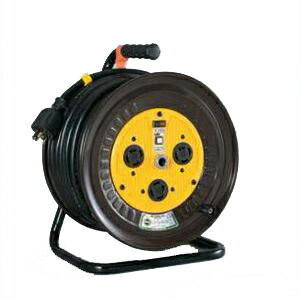 日動工業:三相200Vロック(引掛)式ドラム アース付 漏電保護専用(外カギ) 20m ND-EB320FL-20A