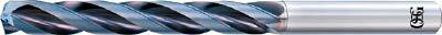 OSG 超硬油穴付3枚刃メガマッスルドリル(内部給油タイプ)(1本) TRSHO5D19  6364501