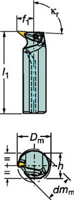 サンドビック コロターンRC ネガチップ用ボーリングバイト(1個) A40TDVUNL16  3593061