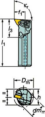 サンドビック コロターンRC ネガチップ用ボーリングバイト(1個) A50UDDUNR15  3592693