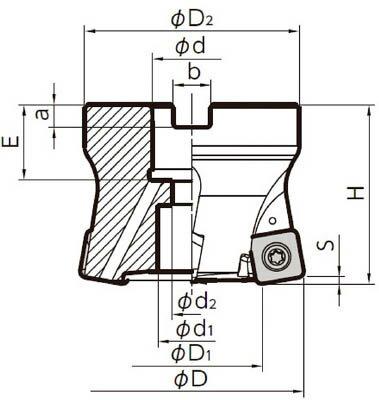 京セラ ミーリング用ホルダ(1本) MFH050R104TM 6546633