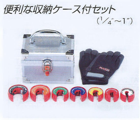TASCO (タスコ):オートマチックカッターセット(ケース・手袋付)(1/4″~1″) TA560MGS