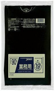 ジャパックス:[業務用]スタンダードポリ袋 90Lタイプ 黒 10枚×30セット P-92
