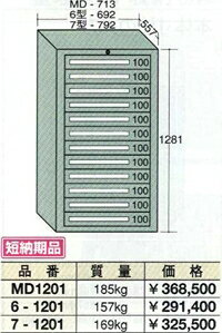 OS(大阪製罐):スタンダードキャビネット 12段 7-1201