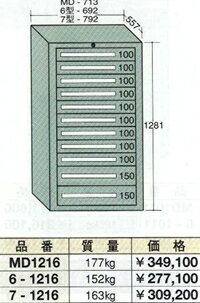 OS(大阪製罐):スタンダードキャビネット 11段 7-1216