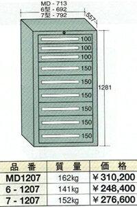 OS(大阪製罐):ミドルキャビネット 9段 MD1207
