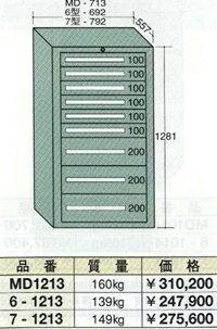 OS(大阪製罐):ミドルキャビネット 9段 MD1213