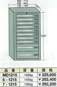 OS(大阪製罐):ミドルキャビネット 10段 MD1215