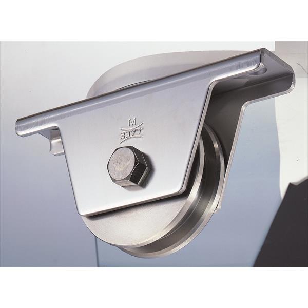 ヨコヅナ:ステンレス重量戸車 ステンレス枠 VH兼用型 100mm JBS-1006