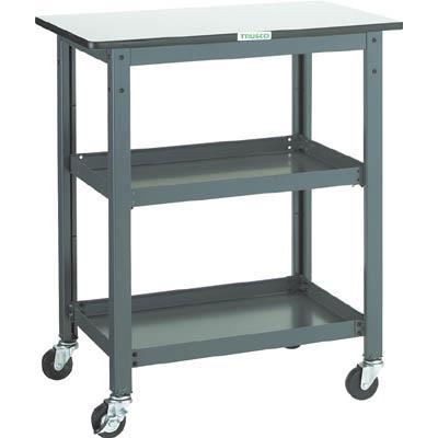 TRUSCO WHT型作業台補助テーブルワゴン 750X450XH900(1台) WHT4575H 3012735