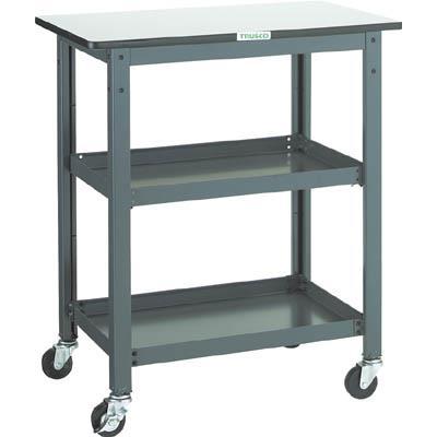 TRUSCO WHT型作業台補助テーブルワゴン 600X600XH900(1台) WHT6060H 3012751