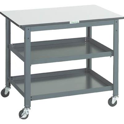 TRUSCO WHT型作業台補助テーブルワゴン 900X600XH740(1台) WHT6090 3012832
