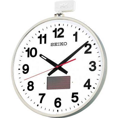 SEIKO ソーラー屋外用大型電波掛時計 527×450×78 金属枠(1個) SF211S 3642011