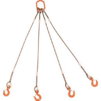 TRUSCO 4本吊りWスリング フック付き 9mmX3m GRE4P9S3 8191730